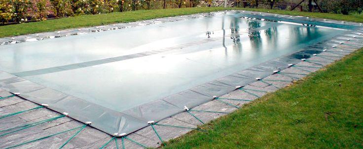 Coperture invernali per piscina ad occhielli e tiranti elastici
