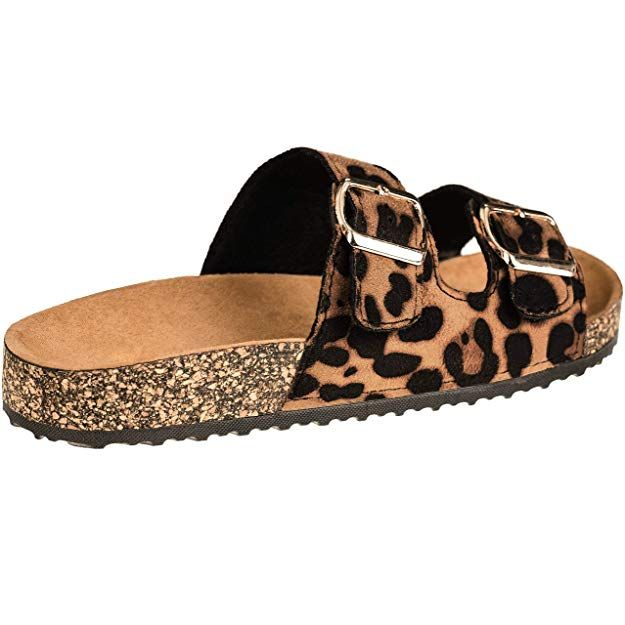 ff4c304ba22b Amazon.com | CLOVERLY Comfort Low Easy Slip On Sandal - Casual Cork Footbed  Platform