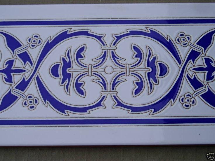 C283 border tile 14 x 28cm in Home, Furniture & DIY, DIY Materials, Flooring & Tiles   eBay