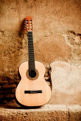 The guitar originated from Spain