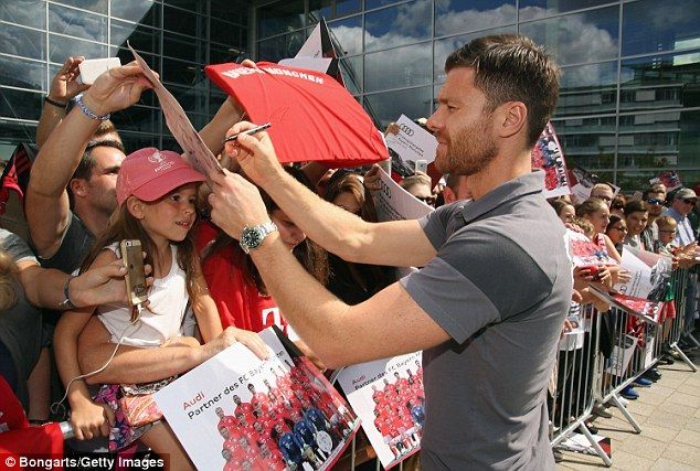 Xabi Alonso was a popular figure at the car handover once he'd relieved his new…