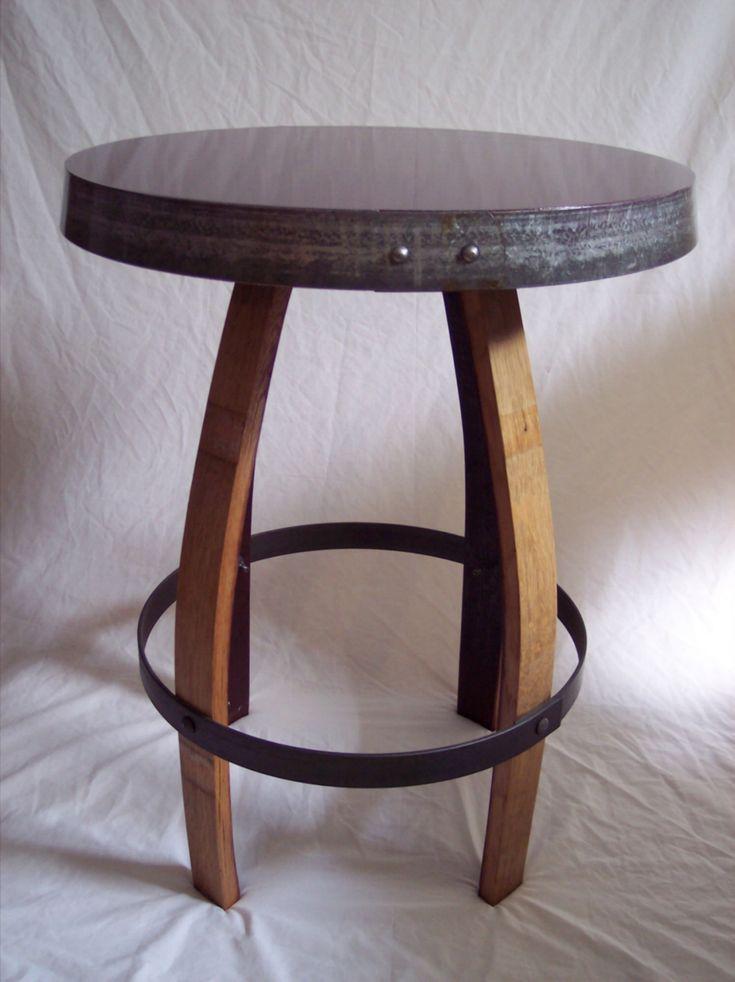 wine barrel furniture | Wine Barrel Stave Furniture Bistro Table stave stool table & 171 best Wine barrel furniture images on Pinterest | Wine barrel ... islam-shia.org