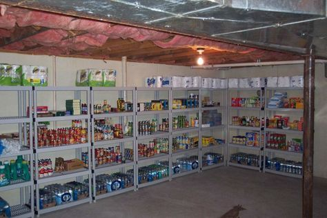 decoration, Perfect Basement Storage Ideas For Pantry With Plastic Shelves Units And Classical Wood Log