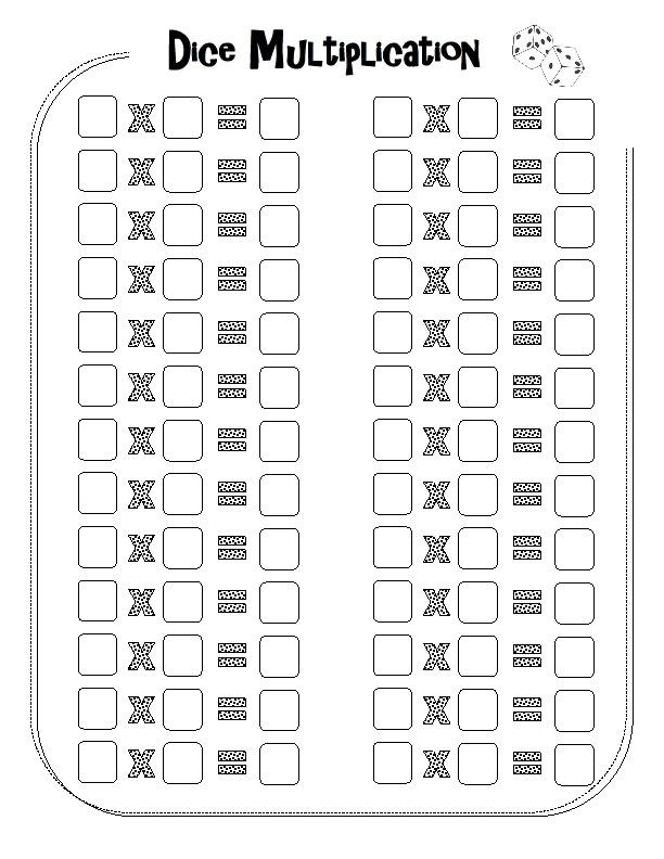 dice multiplication teach pinterest. Black Bedroom Furniture Sets. Home Design Ideas