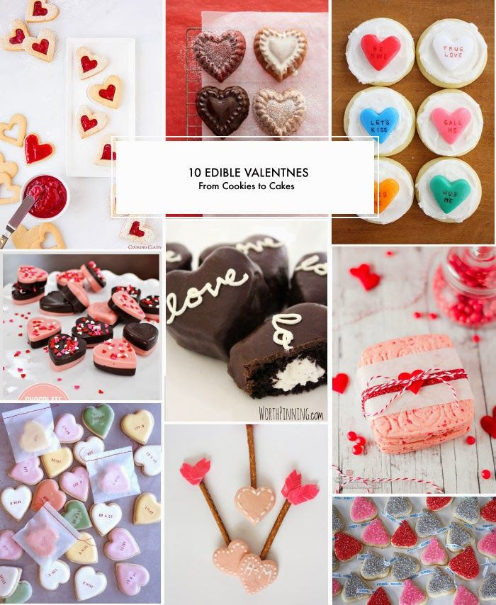 10 Edible Valentines (From Cookies to Cakes)!