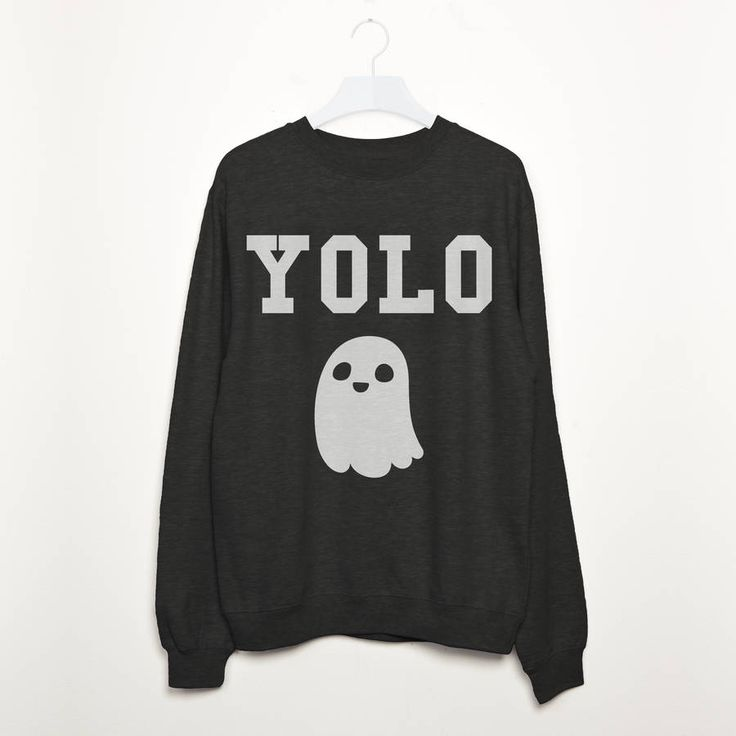Trick or treat yourself to this perfect Halloween fashion sweatshirt. You Only Live Once! Super-comfy women's fashion sweatshirt with YOLO and ghost print.Colours: Black, GreyThis fabulous Halloween design is perfect for fashionistas and vamps to rock this Halloween! It's the perfect gift for friends, teens and family looking for something cool to wear to a Halloween fancy dress party. View our full range in our Batch1 storefront - all of our products are lovingly designed, printed and ...