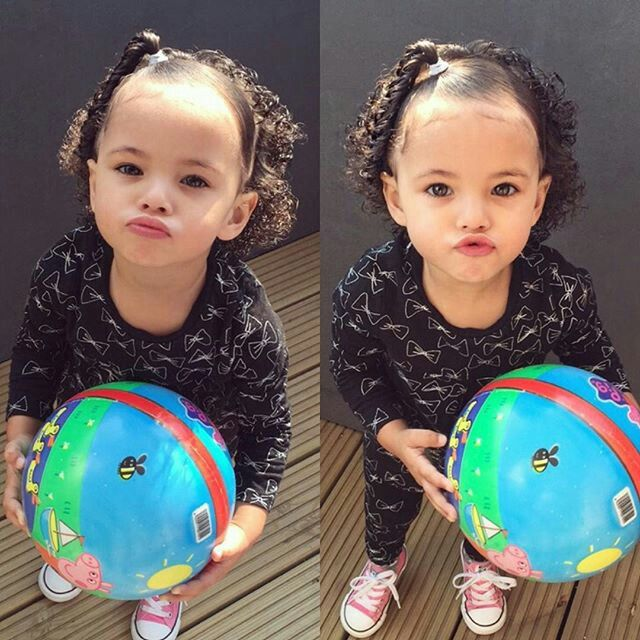 1000 Idee 235 N Over Mixed Baby Hairstyles Op Pinterest