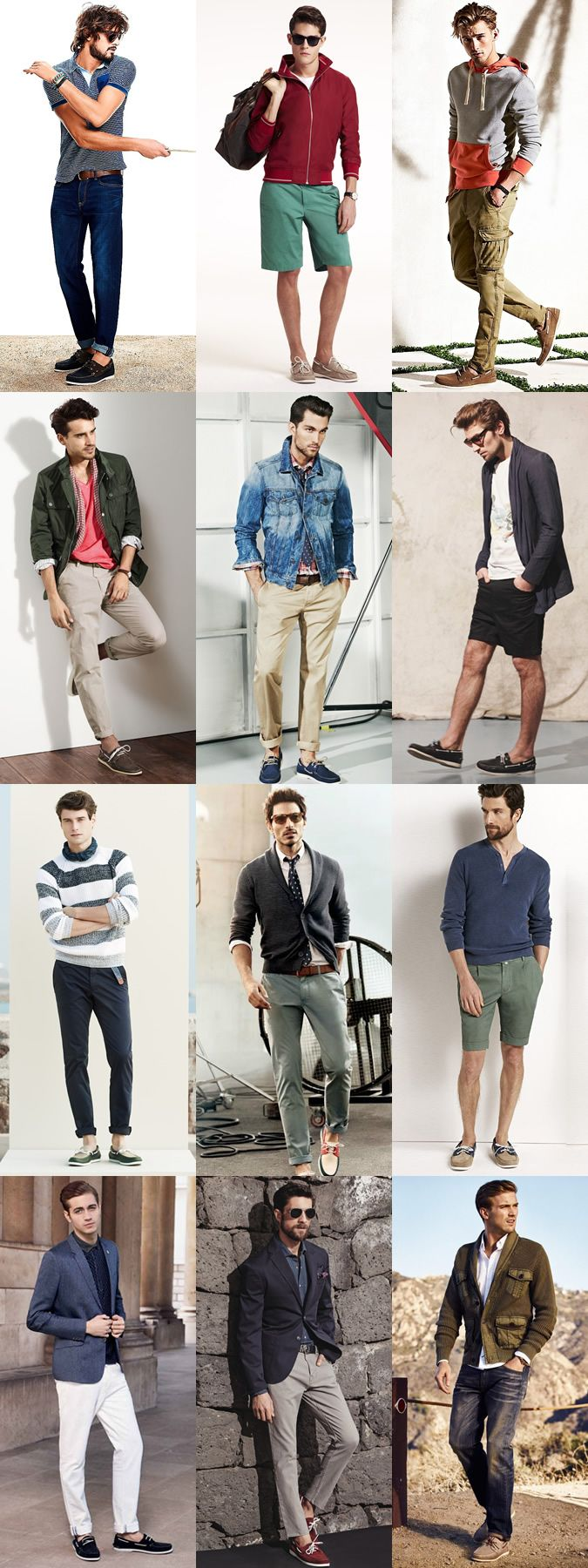 Men's Canvas/Suede Boat Shoes Outfit Inspiration Lookbook