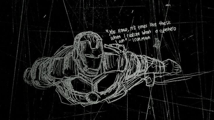 #sketch #black #ironman