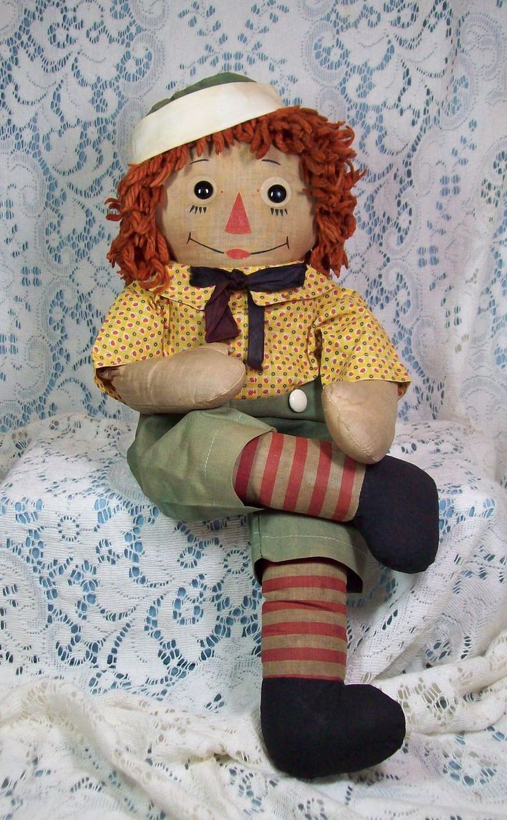 Very Rare Transitional Raggedy Andy by Georgene My baby brother Marky's doll he loved that doll until there was no doll left, gramma sewed him together often! Memories...