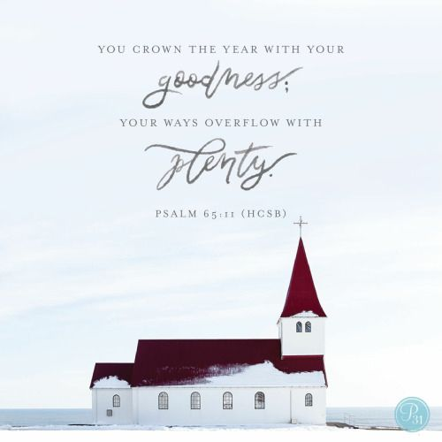 """""""You crown the year with Your goodness, And Your paths drip with abundance."""" Psalms 65:11 NKJV"""