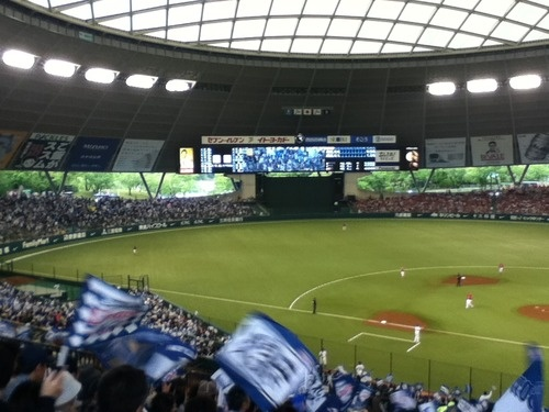 Seibu Dome, home of the Saitama Seibu Lions, our local team.