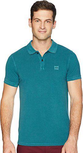 aef03582 BOSS Orange Men's Prime Slim Fit Short Sleeve Polo t-Shirt, Open Green, XL