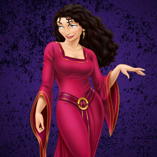 『塔の上のラプンツェル』に登場する悪女ゴーテル★ ディズニー・ヴィランズのイラスト画像