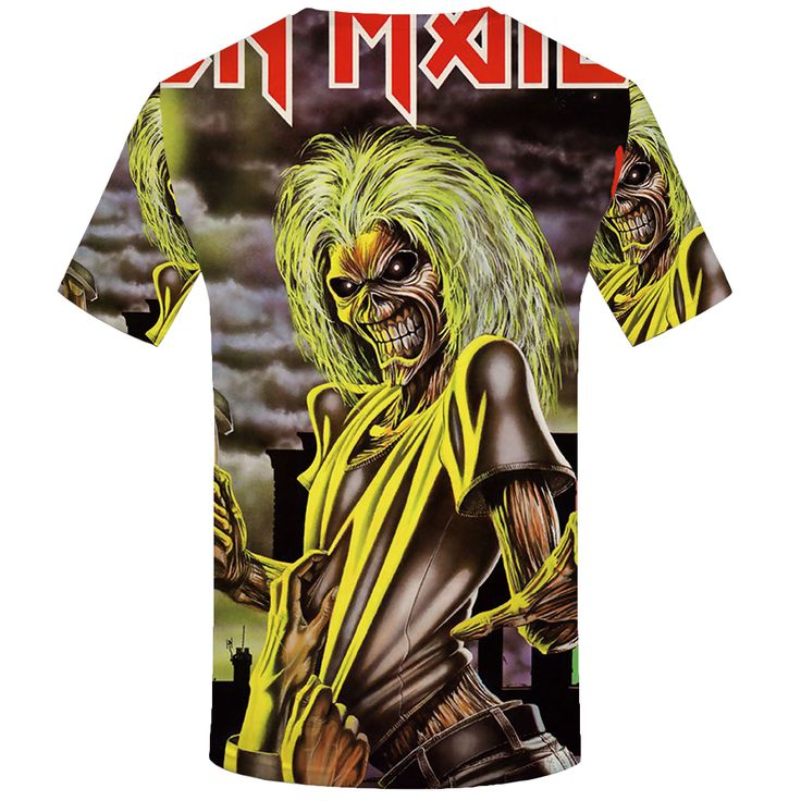 KYKU Brand iron maiden T shirt band T shirt music Tshirt Skull shirts ghost Tee Gothic. Click visit to buy #TShirt