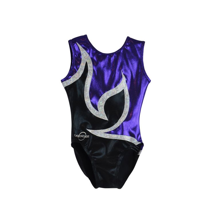 The Obersee Kids Gymnastics Leotard is a scoop neck leotard for children featuring shimmering mystique material, soft nylon and/ or soft velvet with attractive detailing and design. All Obersee leotar