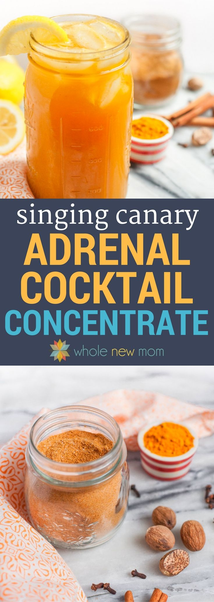 Support your adrenals and save time with this Singing Canary Concentrate. Blend with a few ingredients and your adrenal cocktail is done! via @wholenewmom