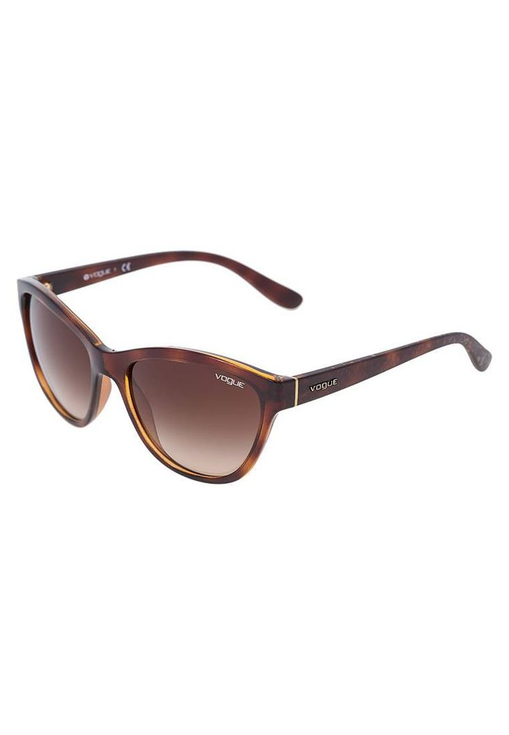 VOGUE Eyewear. Lunettes de soleil - havana. Forme des lunettes:papillon. Étui à lunettes:Étui rigide. Longueur des branches:13.5 cm en taille 57. Avantage des verres:vue claire et sans distorsion. Filtre UV:oui. Largeur du pont:1 cm en taill...