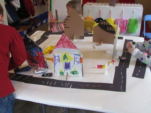 Neighborhood under construction in preschool | Teach Preschool