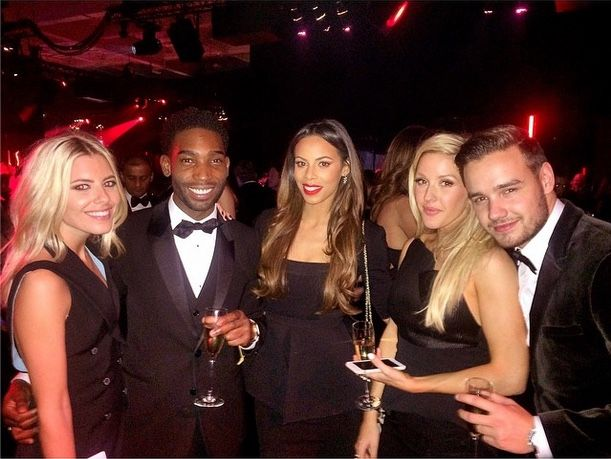 mollie and Rochelle with Tinnie Tempah, Ellie Goulding and Liam Payne