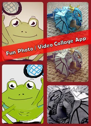 A Fun Photo Video Collage App - you can add videos to collage too. Learning activity ideas using collage apps are shared. #kidsapps #ArtApps