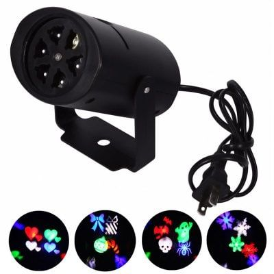 Just US$11.99, buy Youoklight 1PCS 4W Rgbw Ac85 - 265V Christmas Lighting Decoration Led Snowflake Projector 4 Pattern Lens Halloween Lighting Dj Ktv Bar Rotating Stage Light Bulbr online shopping at GearBest.com Mobile.