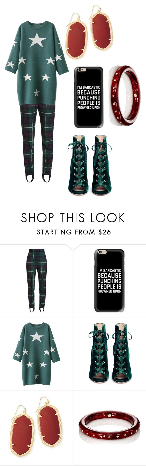 """""""Stirrup Some Trouble #2"""" by aqualyra ❤ liked on Polyvore featuring Burberry, Casetify, Gianvito Rossi, Kendra Scott, Mark Davis, casual, booties, sweaterweather, sweaterdresses and stirrup"""