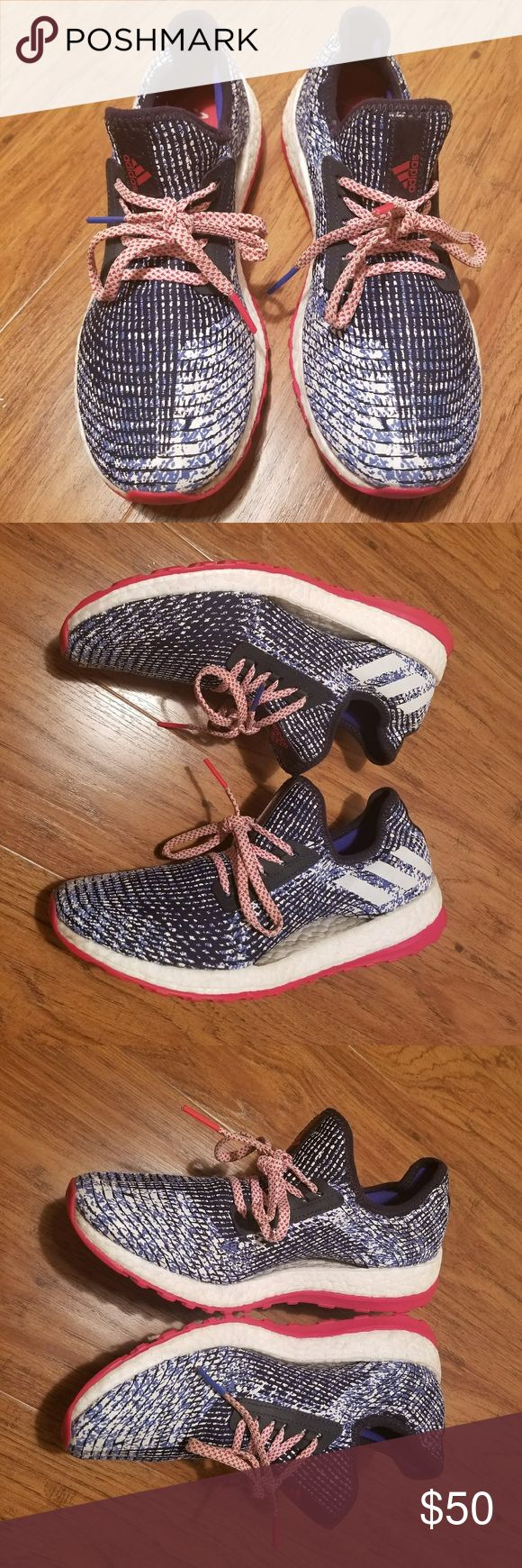 Adidas Pure Boost X Size: Womens 9 Color: Red/White/Blue Price: $49.99 adidas Shoes
