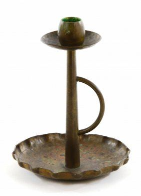 Antique Arts & Crafts Period Copper Candlestick