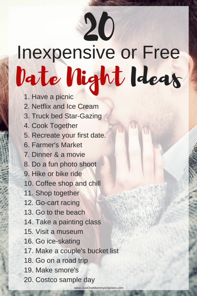 20 Inexpensive or Free Date Night Ideas http://www.giftideascorner.com/gifts-for-new-parents