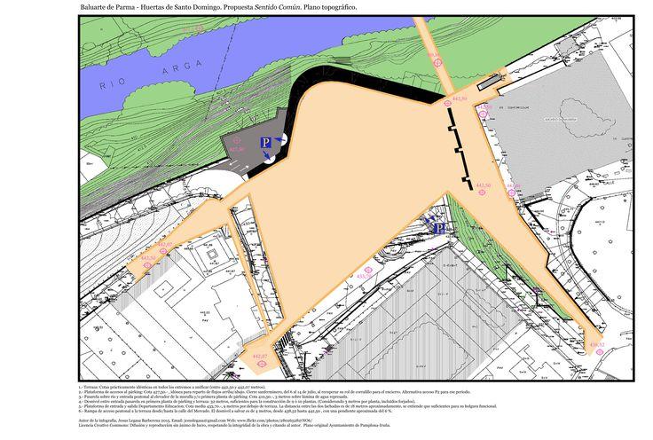 Baluarte de Parma y Mercado de Santo Domingo. Propuesta. Plano topográfico.