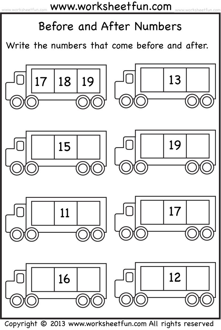 buurgetallen oefenen 11 tot 20 - voor en na