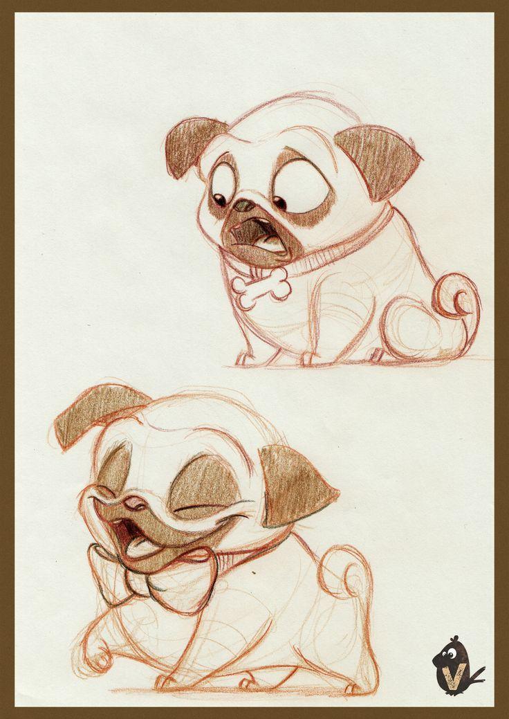 ArtStation - Pug Expression Exploration, Vipin Jacob