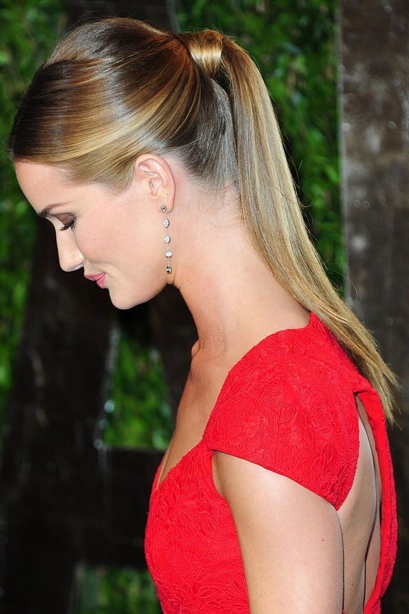 ponytail with parted hair