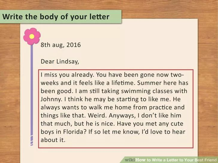 write a letter to your best friend