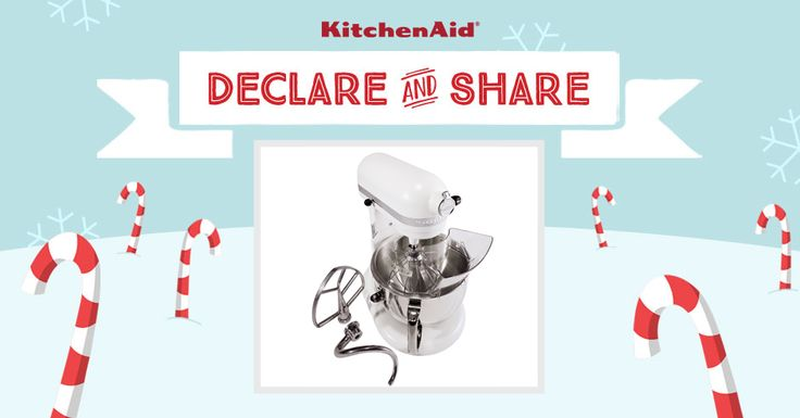 All I want for Christmas is the KitchenAid Pro 600® Stand Mixer in Meringue! Declare & Share the KitchenAid small appliance on your wish list, and you could win it! http://declareandshare.ca/