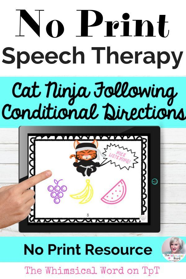 Following Directions Activity NO PRINT Speech Therapy