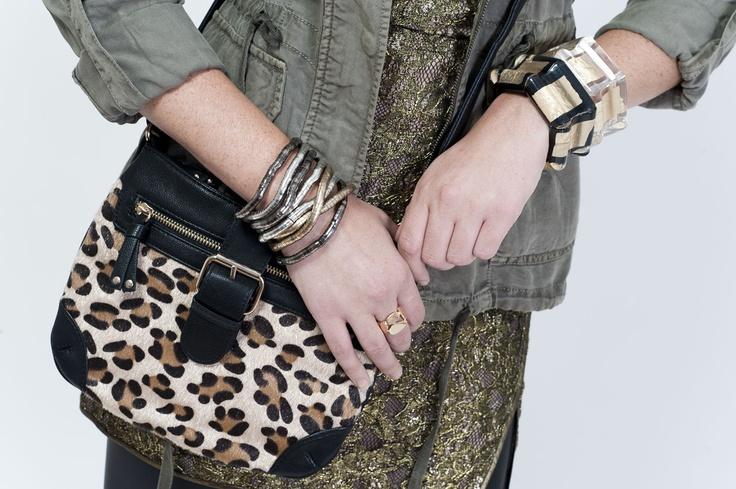 Jacket - Le Chateau;  Dress - BCBG;  Purse - Aldo Accessories;  Accessories - Aldo Accessories and Suzy Shier