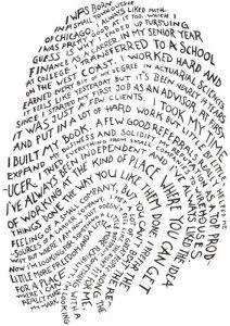 Wie ben jij? Vergroot een vingerafdruk en schrijf een verhaal over jezelf op de lijntjes