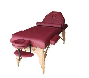 """BestMassage 30"""" Burgundy Reiki Portable Massage Table Package(Includes FREE Carrying Case, Bolster, Adjustable Head Rest) by BestMassage. $99.99. 77"""" Long (without face cradle) × 30"""" Wide. Free Premium Carry Case, Adjustable head rest and half bolster. Weight Limit: 600 LB. 3"""" Thick Padding with Birch Hardwood Construction. Easy to adjustable height from 26"""" to 36"""". Durable and Strong PU Leather, oil and water proof, not cheap vinyl. PU is widely used in leather s..."""