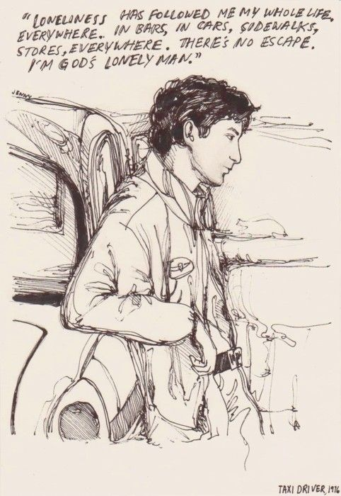 taxi driver >> sketch and words