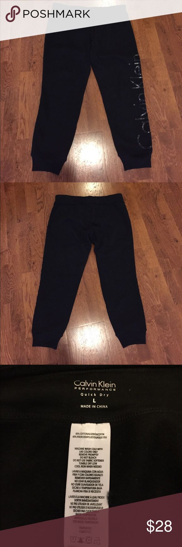 Calvin Klein Performance Black Jogger Calvin Klein Performance Black Jogger. Size large. Quick dry. Super soft and comfortable. Perfect for lounging or being comfortable while out and about! Worn once. Perfect condition. Accepting offers! Calvin Klein Pants Track Pants & Joggers