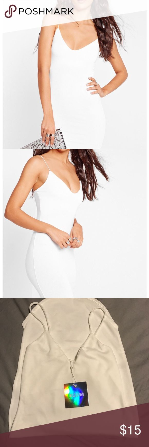 Misguided Strappy Curve Hem Midi Dress Brand new with tags, size 6, runs small best for size 2-4 in my opinion. Misguided Dresses Midi