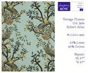 Crib skirt fabric: Vintage Plumes Jade by Robert Allen $50yrd
