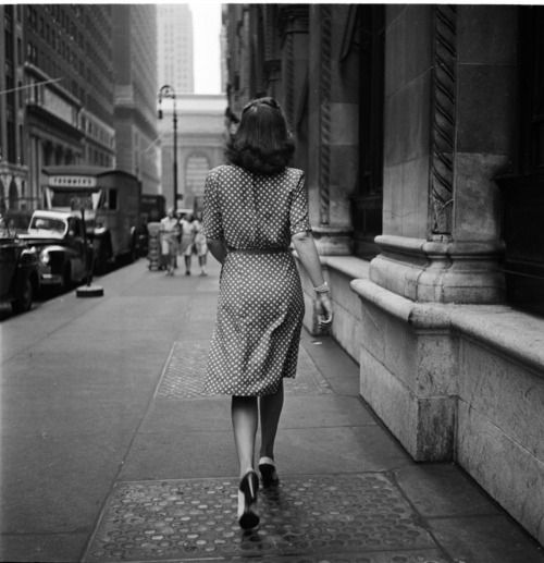 """""""Walking Away on the Streets of New York"""" by Stanley Kubrick for Look Magazine. New York City, 1948."""