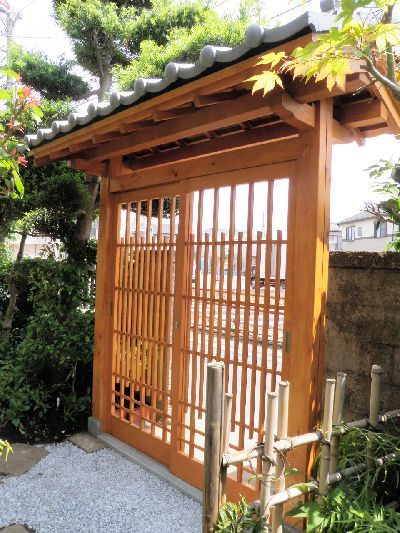 Japanese Garden Gates Ideas find this pin and more on japanese garden Id Like To Build A Covered Pergola In A Similar Style To Hang Our
