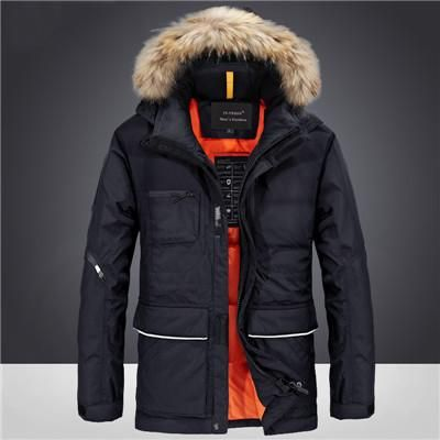 2017 New arrival Brand mens duck down jacket brand down coat thickening fur collar Winter jackets mens plus size men coat
