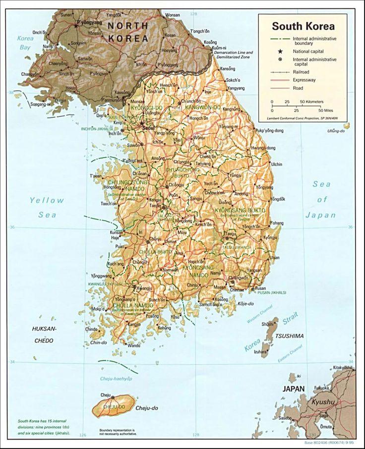 south korea map 1995