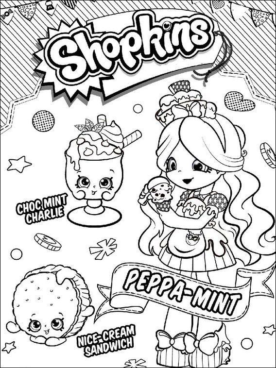 Dibujos para imprimir y pintar para niños Shopkins 12 | Niñas ...