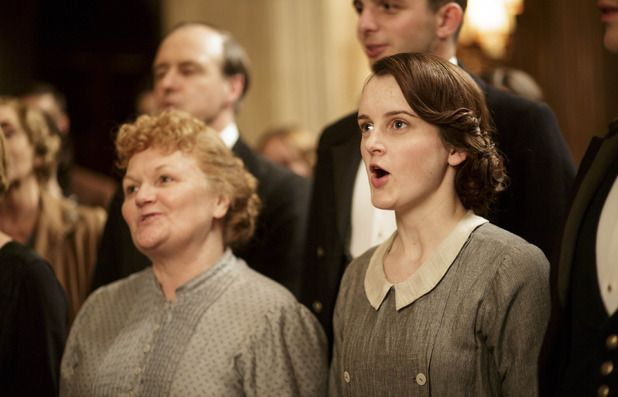 Lesley Nicol as Mrs Patmore & Sophie McShera as Daisy in Downton Abbey Christmas special